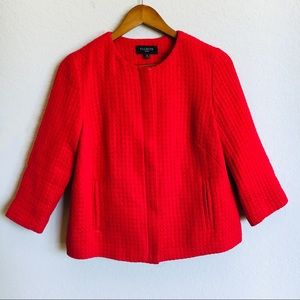 Talbots Red Holiday Blazer